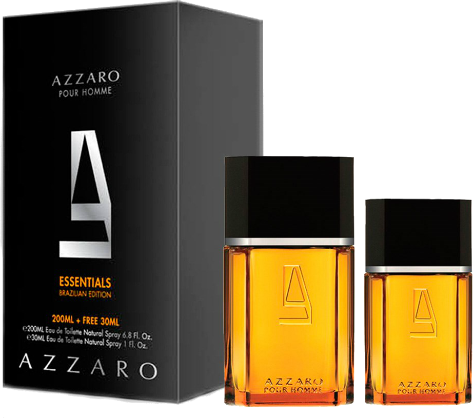 POUR HOMME AZZARO EDT BRAZILIAN EDITION 200 ML + 30 ML ORIGINAL - VICTOIRE  ESSÊNCIAS df8554a1311